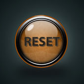 Reset circular icon on white background — Stock Photo