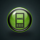 Mms circular icon on white background — Foto Stock
