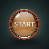 Start circular icon on white background — Stock Photo