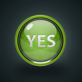 Yes circular icon on white background — Stock Photo