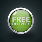 Free delivery circular icon on white background — Stock Photo