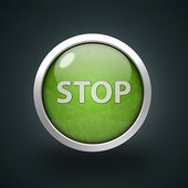 Stop circular icon on white background — Stock Photo