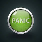 Panic circular icon on white background — Stock Photo