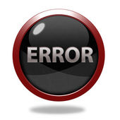 Error circular icon on white background — Stock Photo