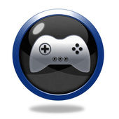 Game circular icon on white background — Stock Photo