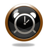Alarm circular icon on white background — Zdjęcie stockowe