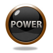 Power circular icon on white background — Stock Photo