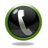Phone circular icon on white background — Stock Photo