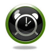Alarm circular icon on white background — Stockfoto