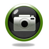 Photo circular icon on white background — Stock Photo