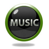 Music circular icon on white background — Stock Photo