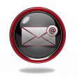 Email circular icon on white background — Stock Photo