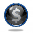 Money circular icon on white background — Stock Photo