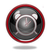 Alarm circular icon on white background — Stock Photo