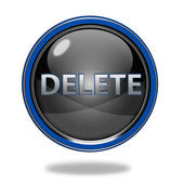 Delete circular icon on white background — Stock Photo
