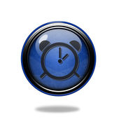 Alarm circular icon on white background — Stok fotoğraf