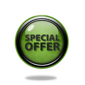 Special offer circular icon on white background — Stock Photo