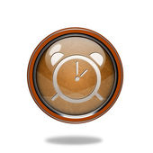 Alarm circular icon on white background — Photo