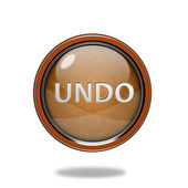 Undo circular icon on white background — Stock Photo