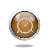 Alarm circular icon on white background — Stock fotografie