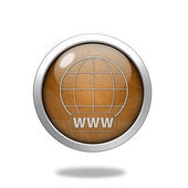 Www circular icon on white background — Stock Photo