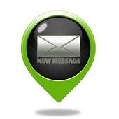New mesage pointer icon on white background — Stock Photo
