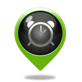 Alarm pointer icon on white background — Stock Photo