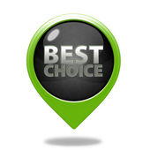 Best choice pointer icon on white background — Stock Photo