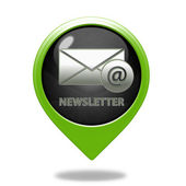Newsletter pointer icon on white background — Stock Photo