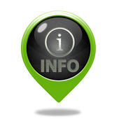 Information pointer icon on white background — Stock Photo