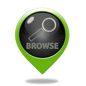 Browse pointer icon on white background — Stock Photo