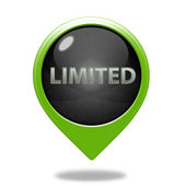Limited pointer icon on white background — Stock Photo