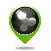 Database pointer icon on white background — Stock Photo