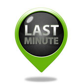 Last minute pointer icon on white background — Stock Photo