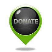 Donate pointer icon on white background — Stock Photo
