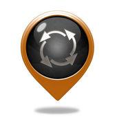 Recycle pointer icon on white background — Stock Photo