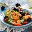 Salad with grilled prawns — Stock Photo #50346927