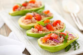Avocado, tuna and tomato salad. — Stock Photo