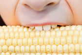 Healthy eating yellow corn vegetable — Stock Photo