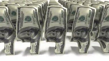 Peníze se blíží! 100 dolarové bankovkyお金が来ている !100 ドル紙幣 — Stock video
