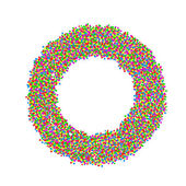 Abstract circle made with colourful dots — Stock Vector