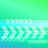 Abstract blue green background with transparent arrows — Stock Vector