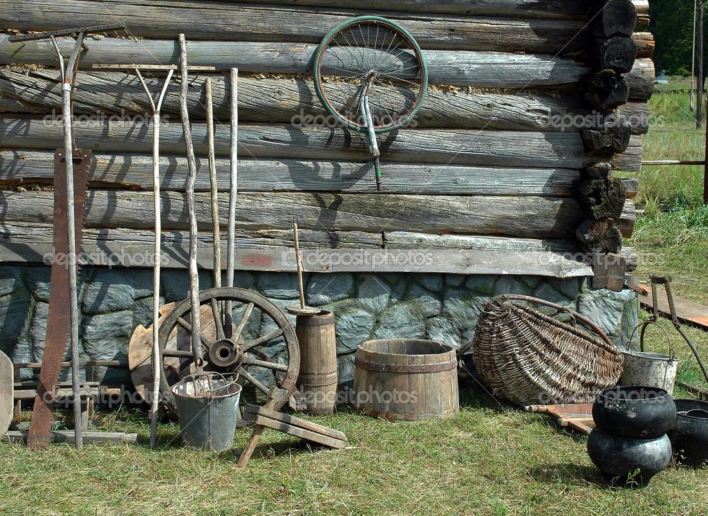 Todav a la vida del pueblo herramienta retro fotos de - Herramientas de campo antiguas ...