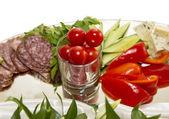 食品。开胃菜 — 图库照片