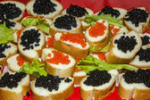 Appetizer with caviar — Stock Photo