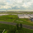 Airplane Time Lapse Airport Wide — Stock Video #47234445