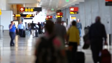 Airport Travelers People — Stock Video