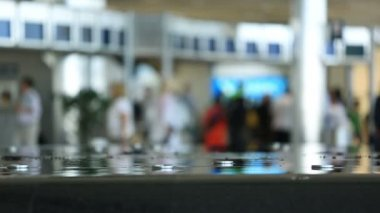 Airport Travelers — Stock Video