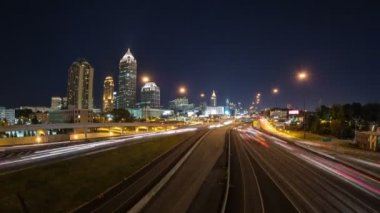 Atlanta Cityscape Time Lapse — Stock Video