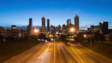 Atlanta Cityscape Time Lapse — Stock Video